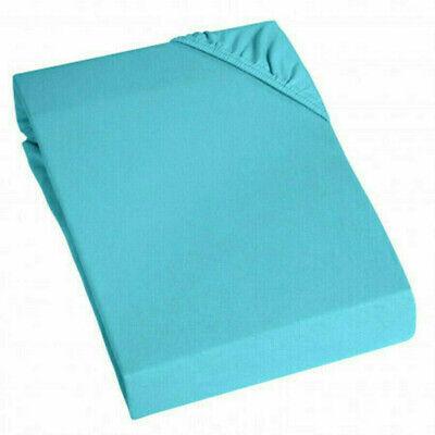 Jersey-Spannbetttuch Blau 180x200cm - 200x200 cm Spannbettlaken Bettwäsche 4236