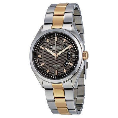 $84.99 - Citizen Men's AW1146-55H Date Watch Stainless & Rose Gold Tone Bracelet Watch