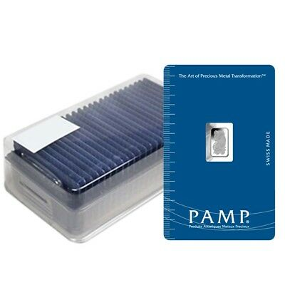 Box of 25 - 1 gram PAMP Suisse Lady Fortuna Platinum Bar .9995 Fine (In Assay)