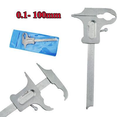 0.1- 100mm Dental Sliding Gauge Vernier Caliper For Diamond Tool Lab Instruments