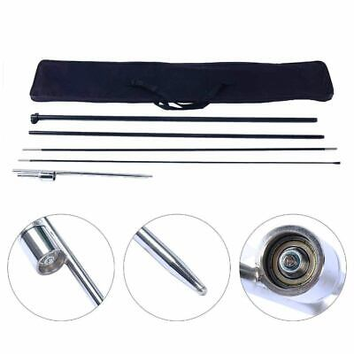 Large Convex Flag Pole Ground Stake Kit Windless Feather Swooper Flags -us Ship