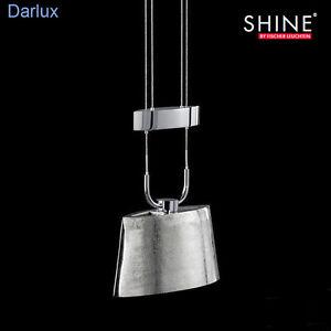 Zug-Pendelleuchte höhenverstellbar Fischer SHINE Nickel antik,LED möglich, GU5.3