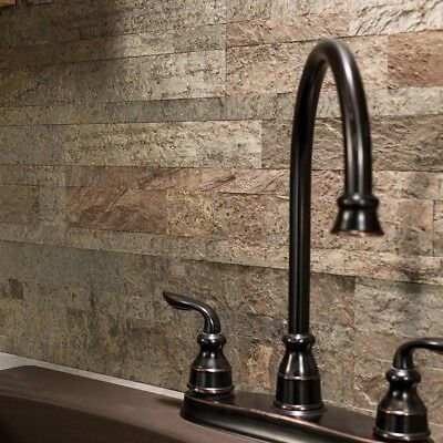 Self Stick Wall Tiles (Peel And Stick Tile Self Adhesive Stone Wall Bath Kitchen Backsplash Brown)