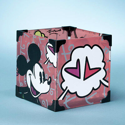 ROMERO BRITTO DISNEY MICKEY & MINNIE VOTIVE  Candle Holder  ** NEW **