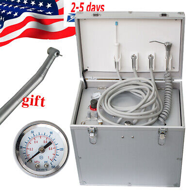 Fda Dental Portable Delivery Cart Unit Compressor Handpiece Tube Suction System