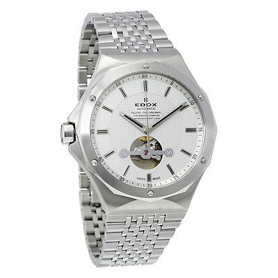 Edox Delfin Silver Dial Automatic Mens Watch 85024 3M AIN
