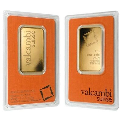 Sale Price - 1 oz Gold Bar Valcambi Suisse .9999 Fine (In Assay)
