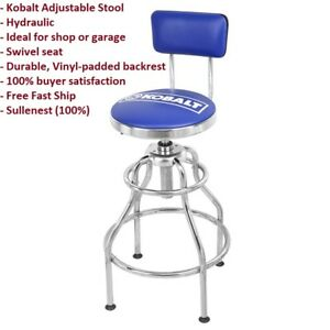 New! Kobalt Adjustable Hydraulic Stool Seat Chair Work Shop Garage Bench 60812