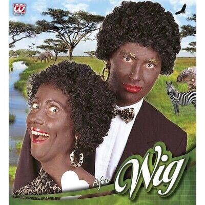 AFRO PERÜCKE AFRIKANER schwarz Karneval Afrolook Locken Wilder Kostüm Fest - Schwarz Afro Perücke Kostüm