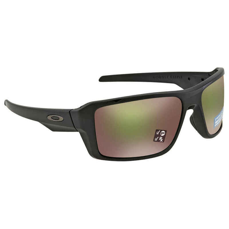 efe925b9b3 Oakley Double Edge Prizm Shallow Water Polarized Polished Black Sunglasses
