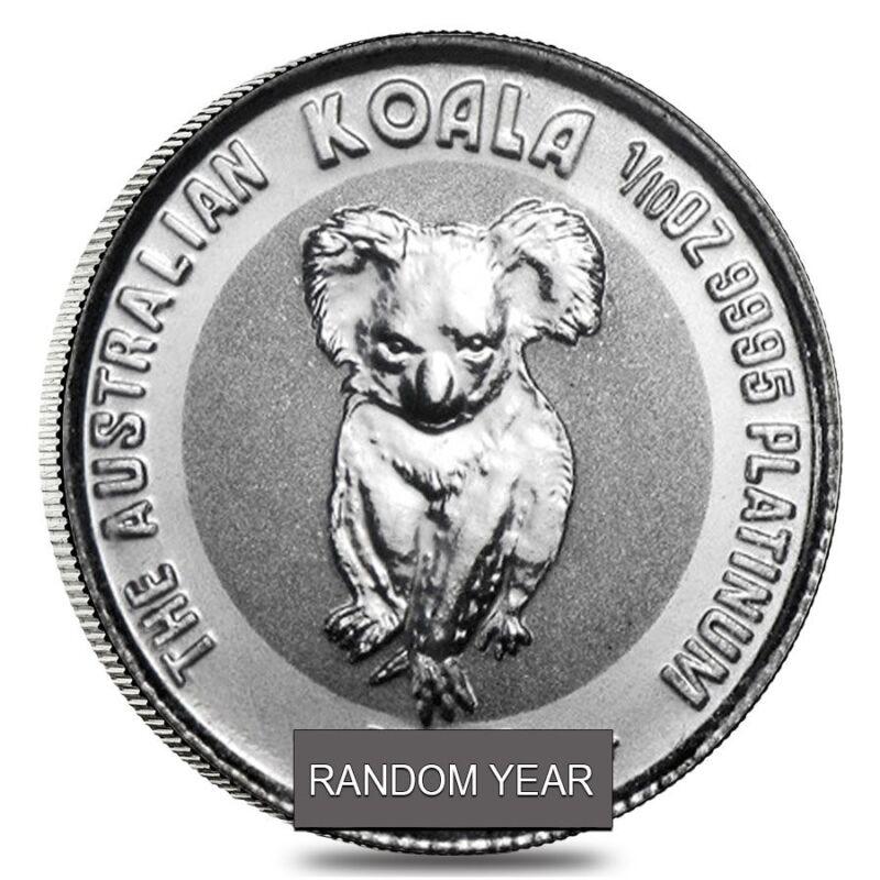 1/10 oz Platinum Australian Koala Coin BU (Random Year)