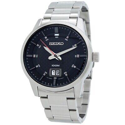 Seiko Sports Black Dial Men's Quartz Watch SUR269