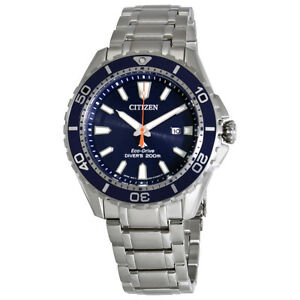 Citizen Promaster Diver Blue Dial Steel Mens Watch BN0191-55L