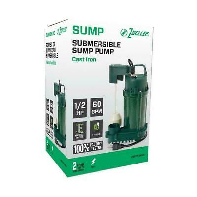 Zoeller 12 Hp 60 Gpm Submersible Sump Pump 1075-0001