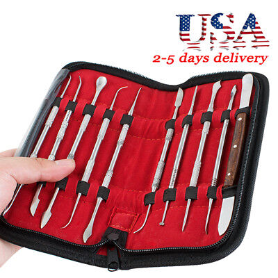 High Quality Stainless Steel Sculpting Tool Wax Carving Tool Kit Dental Lab Usa