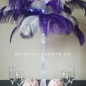 Ostrich Feathers Wedding Children Kids Party Events Centrepieces Table Decorations