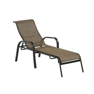 Brown lounge chaise chair