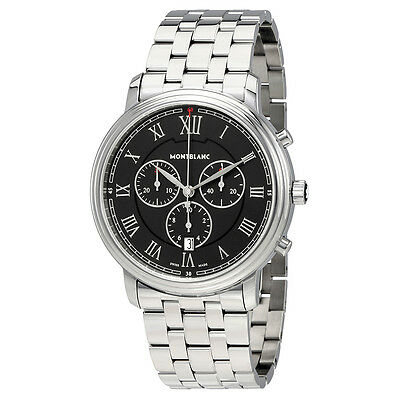 Montblanc Tradition Black Dial Mens Chronograph Watch 117048