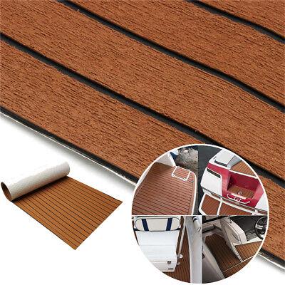 Universal Brown Flooring Mat Car Trunk Floor Carpet Foam Deck Stripe 240x45cm 1x