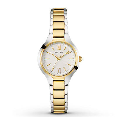 Bulova Women's 98L217 Quartz Two Tone Stainless Steel Bracelet Watch Bulova Bangle Steel Ladies Watch