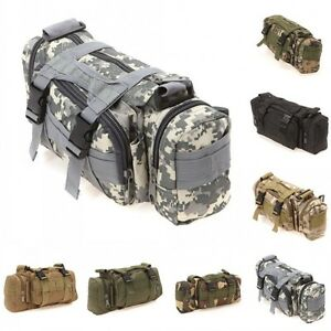 Canvas-Hiking-Travel-Waist-Bag-Military-Tactical-Backpack-Rucksack-3L