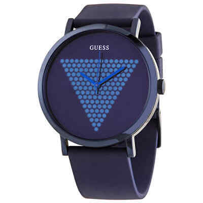 Guess Imprint Quartz Blue Dial Men's Watch W1161G4
