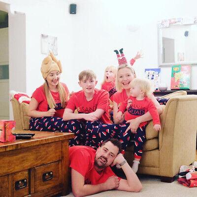 Childrens Christmas Pajamas (Family Match Christmas Santa Hat Pajamas Set Women Kid Xmas Sleepwear)