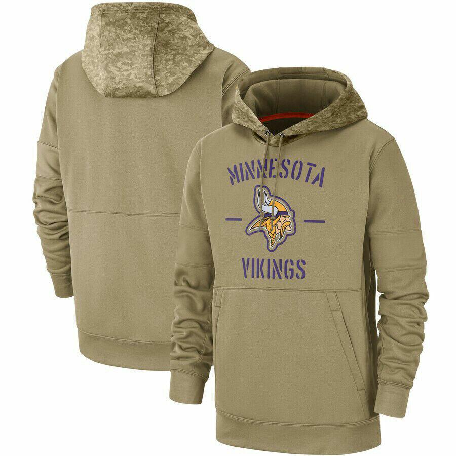 NFL Minnesota Vikings Football Hoodie 2019 Salute to Service Sideline Pullover