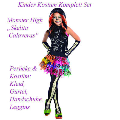KINDER MONSTER HIGH SKELITA KOSTÜM & PERÜCKE # - Monster High Skelita Halloween Kostüm