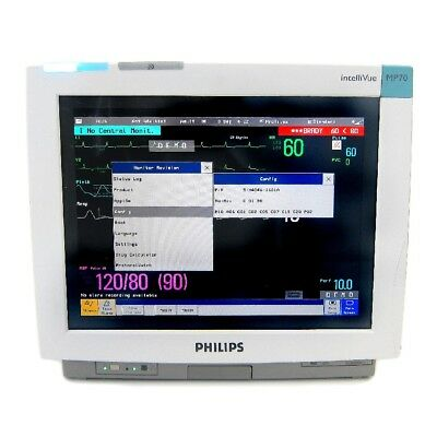 Philips Intellivue Mp70 Monitor With M3001a Module - Biomed Certified - Warranty