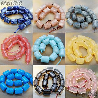 10x12mm Natural Gemstone Triangular Column Loose Beads 14pcs