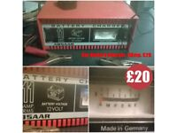 11 Amp, 12 volt Car Battery Charger. German built with handy fast charge option. BARGAIN!