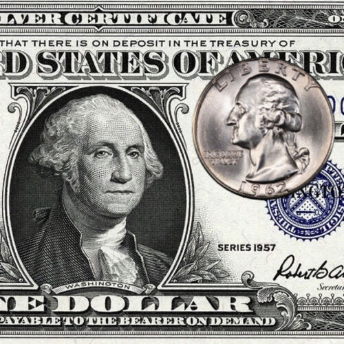 $1 Silver Certificate AND 90% silver Washington Quarter!