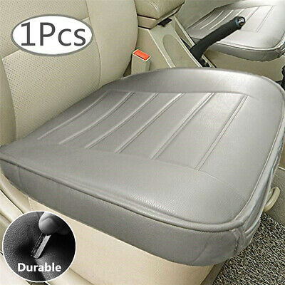 Universal Gray Faux Leather Car Seat Cover Driver Front Cushion w/ Storage Bag (2009 Nissan Maxima Car And Driver)