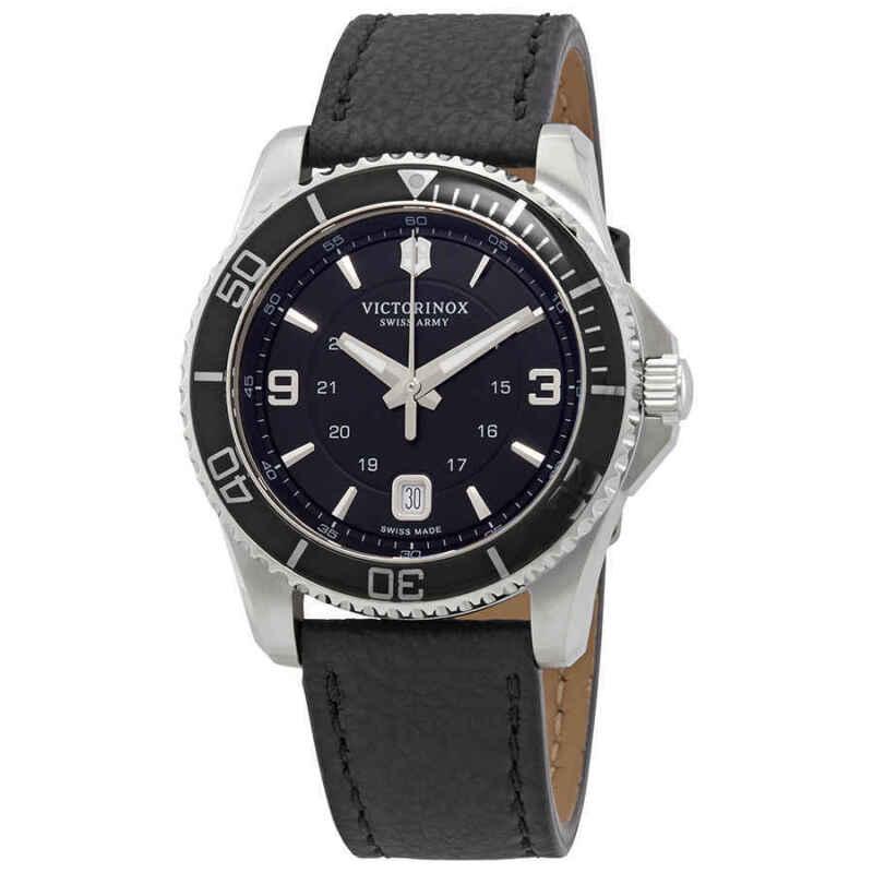 Victorinox-Maverick-Black-Dial-Black-Leather-Men-Watch-241862