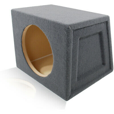 SEALED ANGLED-BACK ENCLOSURE HATCHBACK SPEAKER BOX FOR SINGLE 10
