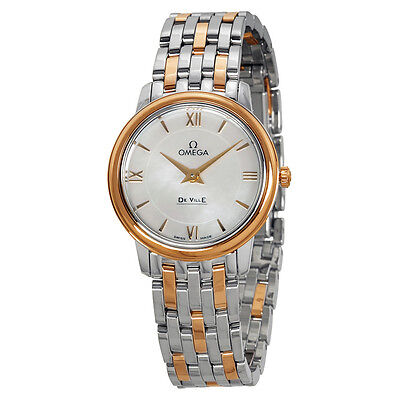 Omega DeVille Prestige Mother of Pearl Dial Ladies Watch 42420276005002