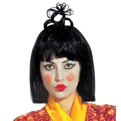 GEISHA PERÜCKE # Japanerin Chinesin Asiatin Japan China Asien Kostüm Party 6061