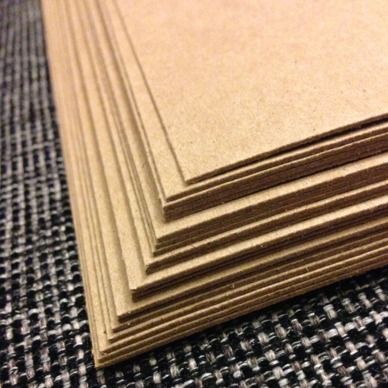 0.030 Chipboard 8.5x11 - 25 Sheets medium weight for crafts scrapbook shipping