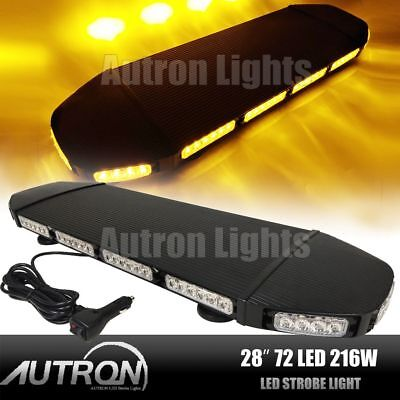 28 3 Watt Led Amber Warn Wrecker Flash Towplow Truck Rooftop Strobe Light Bar