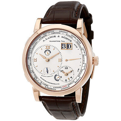 A Lange and Sohne 1 Time Zone Silver Dial Mechanical Mens Watch 116032