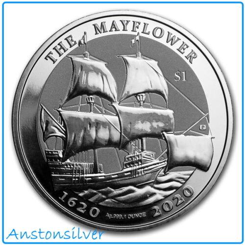 2020 British Virgin Islands Mayflower 400th Anniversary - 1 oz .999 Silver