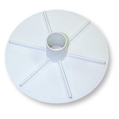 Plastic 8 in White Circular Pool Vacuum Plate Maintenance Equipment Supplies