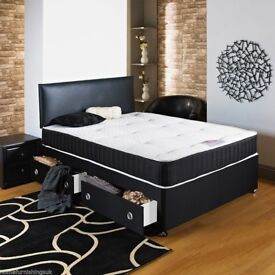 💫💫COMPLETE MEMORY FOAM BED💫💫BRAND NEW DOUBLE DIVAN BED💫💫 WITH ROYAL MEMORY FOAM MATTRESS💫💫