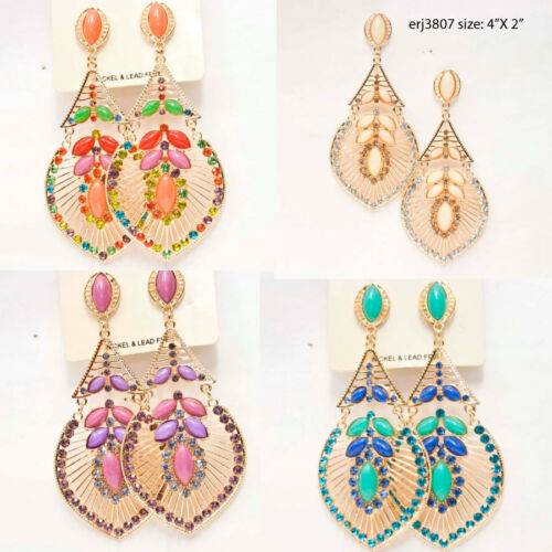 wholesale 100 pairs of mix fashion earring mix colors style sizes free shipping