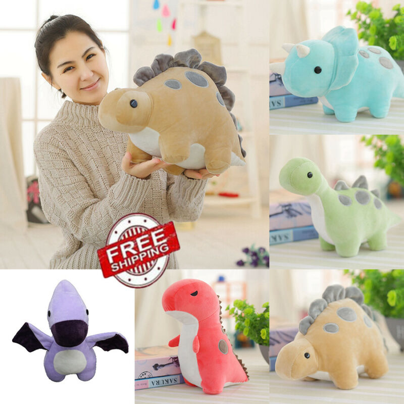 US Kid Baby Cute Dinosaur Plush Toy Stuffed Doll Throw Pillow Christmas Kid Gift