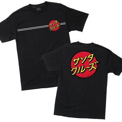 Santa Cruz Dot (Santa Cruz Japanese Classic Dot T Shirt Tee Skateboard Black New Size M L XL XXL )
