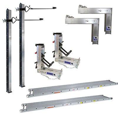 Aluminum Pump Jack System 2 Poles 2 Bench 2 Brace 2 Jacks 14x24 Stage