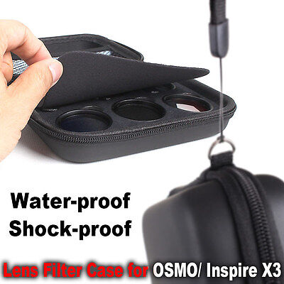 DJI OSMO X3 inspire1 gimbal Lens Filter Case Cover Bag Holder Drone Filters HOT