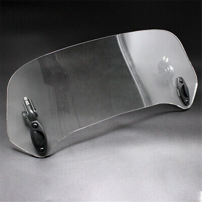 Transparent Rised Moped Scooter Bike Windshield Deflector Extender Adjustable 1x